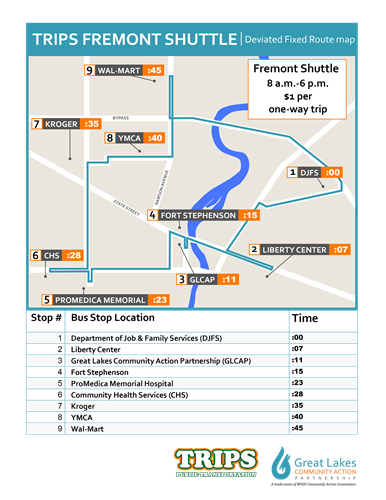 Fixed Route Map