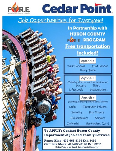 Huron County Cedar Point Work Transportation
